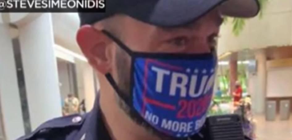 Policajac na biračkom mjestu nosio masku Donalda Trumpa, šef policije: 'Kaznit ćemo ga'