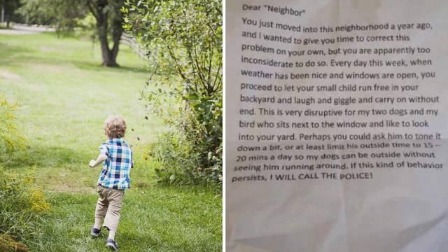 Susjeda iz pakla: U poruci traži da se djeci ograniči vrijeme vani