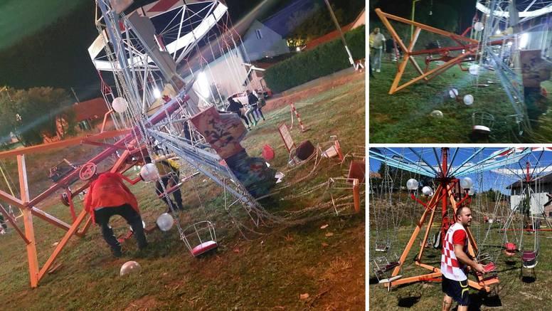 Prevrnuo se vrtuljak s djecom: 'Vrištali su. Usred vožnje počeo se naginjati i pao je na stranu'