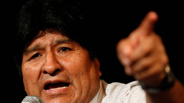 News conference of former Bolivian President Evo Morales