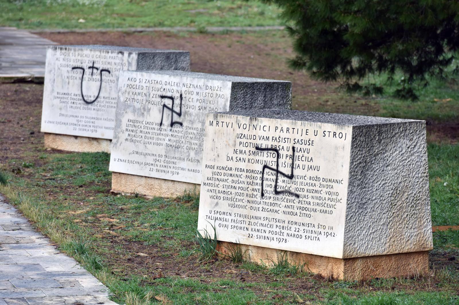 Šibenik: Niti nakon pet dana grafiti na Šubićevcu nisu uklonjeni