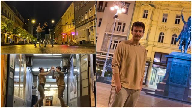 Zaplesali praznim zagrebačkim ulicama: 'Ovo je poklon Gradu'