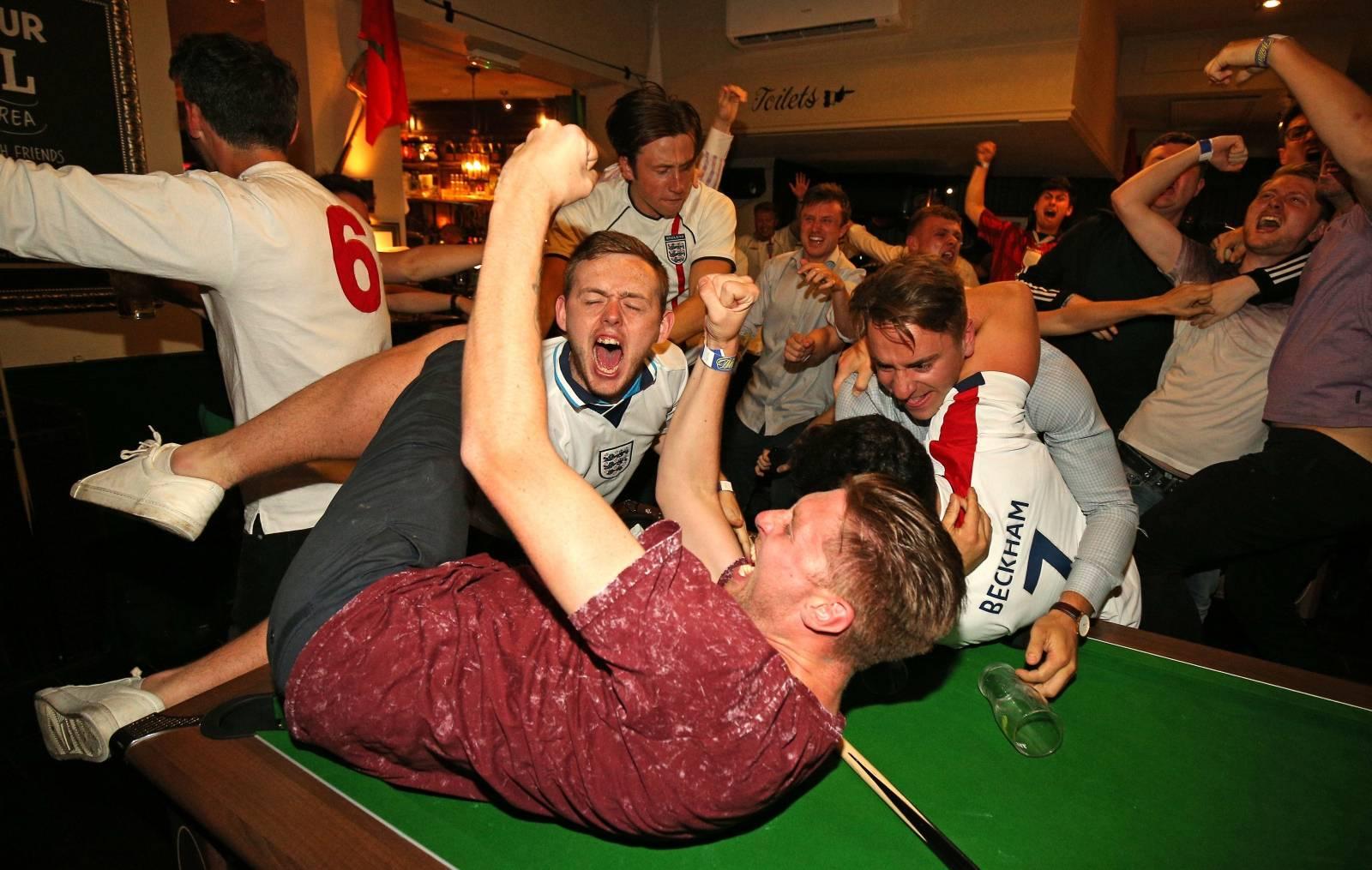 England Fans in UK