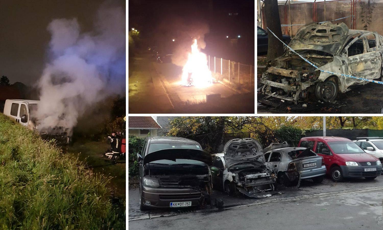 Policija na kotačima zapaljenih auta našla neobične spravice?!