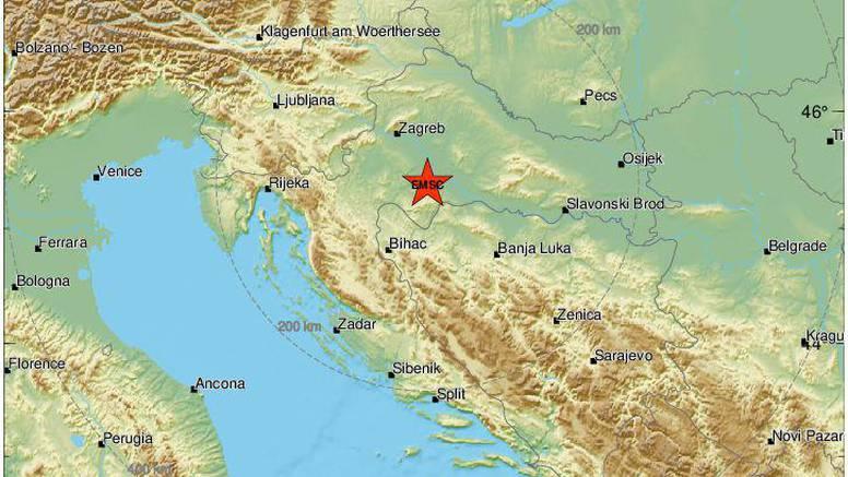 Potres tijekom noći uznemirio građane Banije: 'Bilo je kratko, ali jezivo nakon dugo vremena'