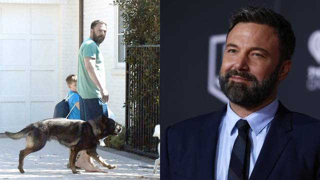 Affleck nakon odvikavanja: Bos šeta s psima po Los Angelesu