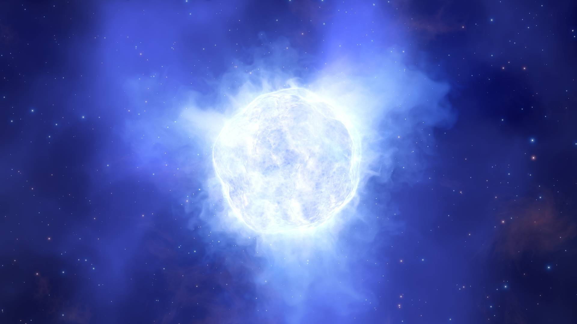 Artist's impression of the disappearing star