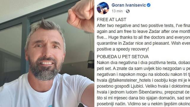 Ivanišević 'pobijedio' koronu: 'Ovo je pobjeda u pet setova'