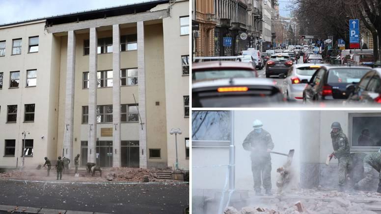 VIDEO Kaos u Zagrebu: Vojska sanira ruševine, ljudi bježe iz grada u prometnom kolapsu