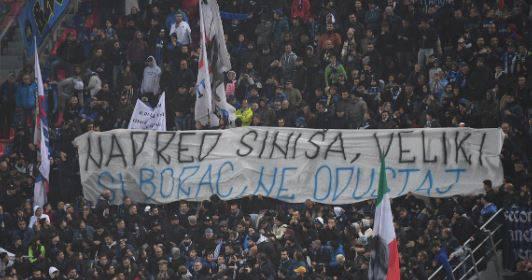 Navijači Intera dali su podršku Mihajloviću: Siniša, ne odustaj!