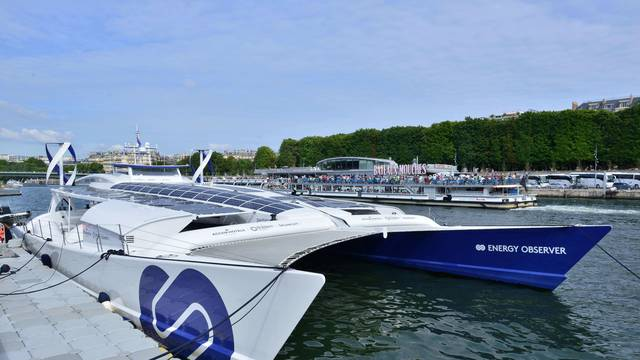 'The Energy Observer' Eco-friendly maxi-catamaran - Paris