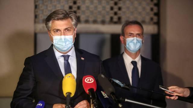 Zagreb: Andrej Plenković obratio se medijima nakon sjednice Predsjedništva HDZ-a