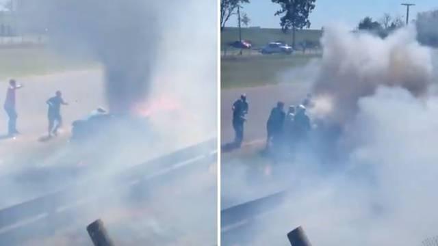 Horor u Argentini: Živ gorio u automobilu, jedva ga spasili!