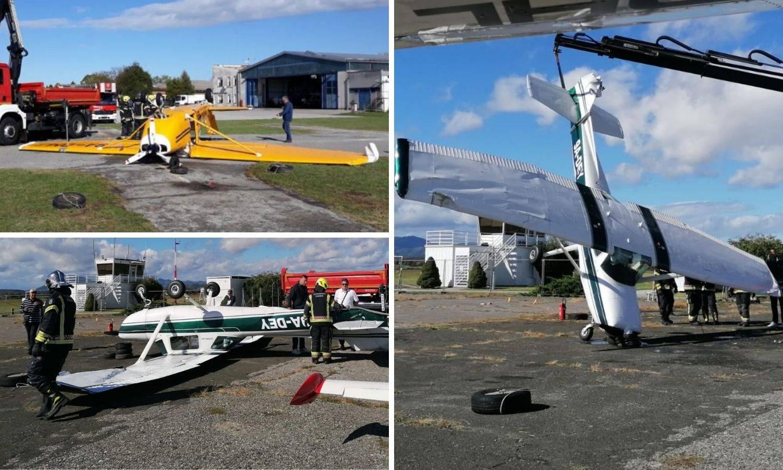 Pijavica na Lučkom razbacala je avione! Digla je i krov hangara