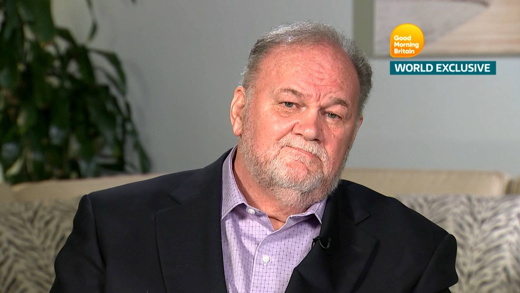 Thomas Markle, Meghan Markle's father, is seen in a still taken from video as he gives an interview to ITV's Good Morning Britain program which is broadcast from London