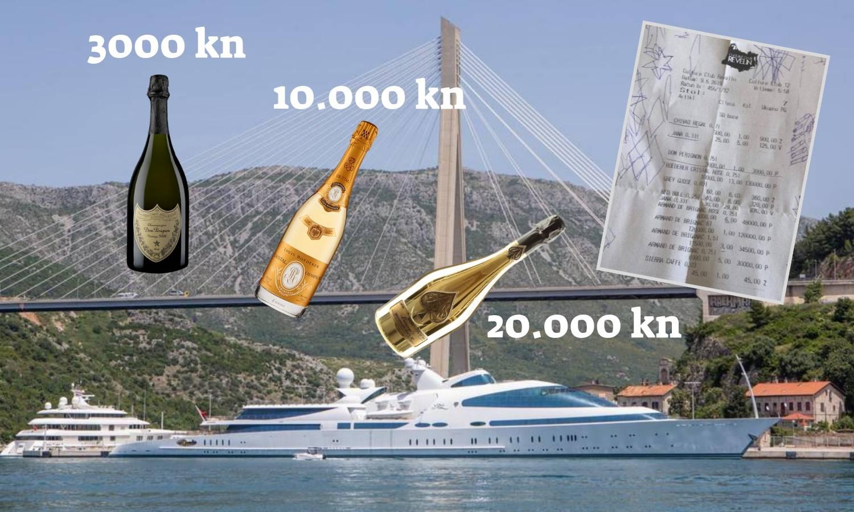 Detalji računa iz Dubrovnika: Litra šampanjca 20.000 kuna