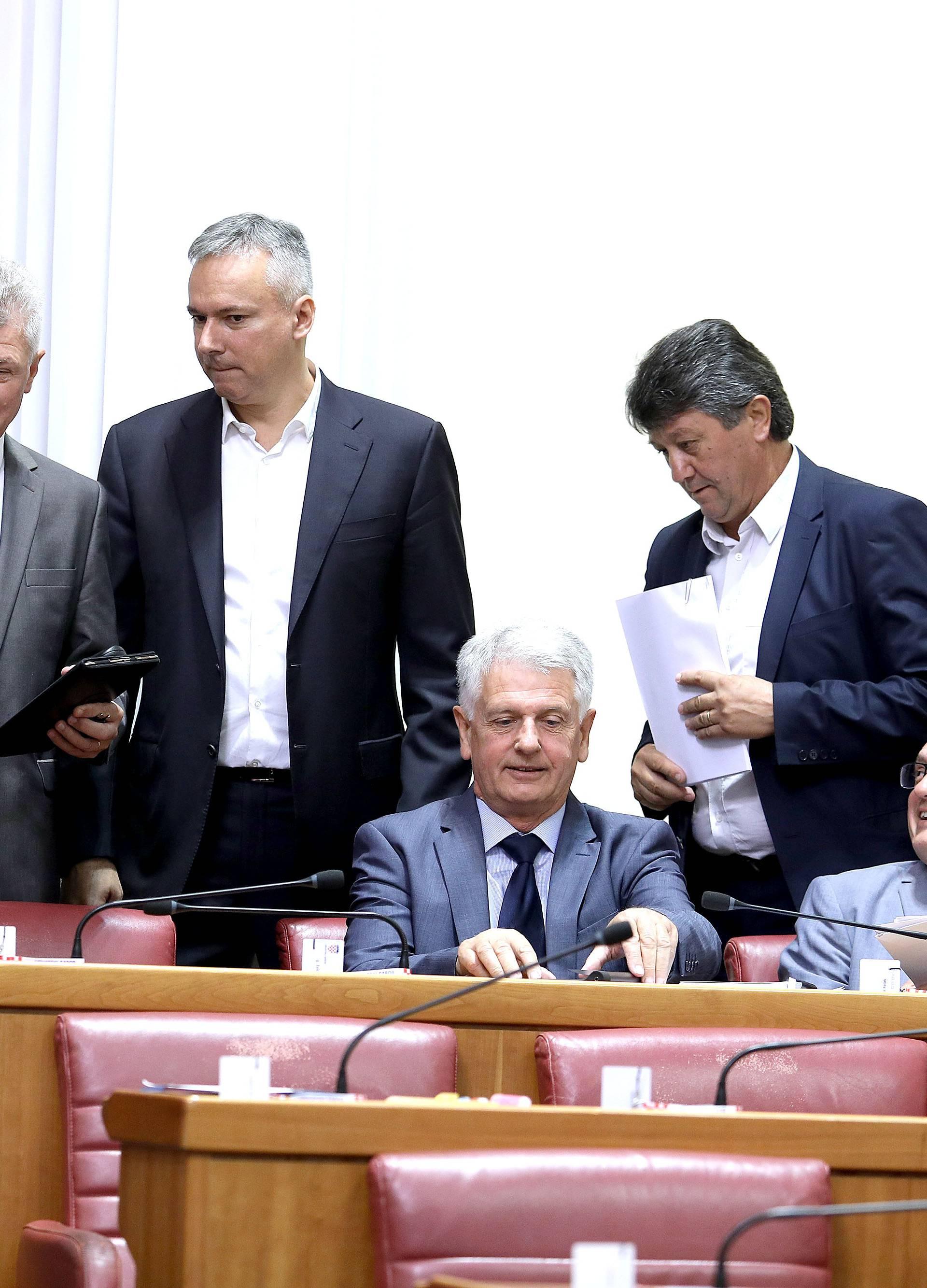 Zagreb: Aktualno prijepodne u Saboru