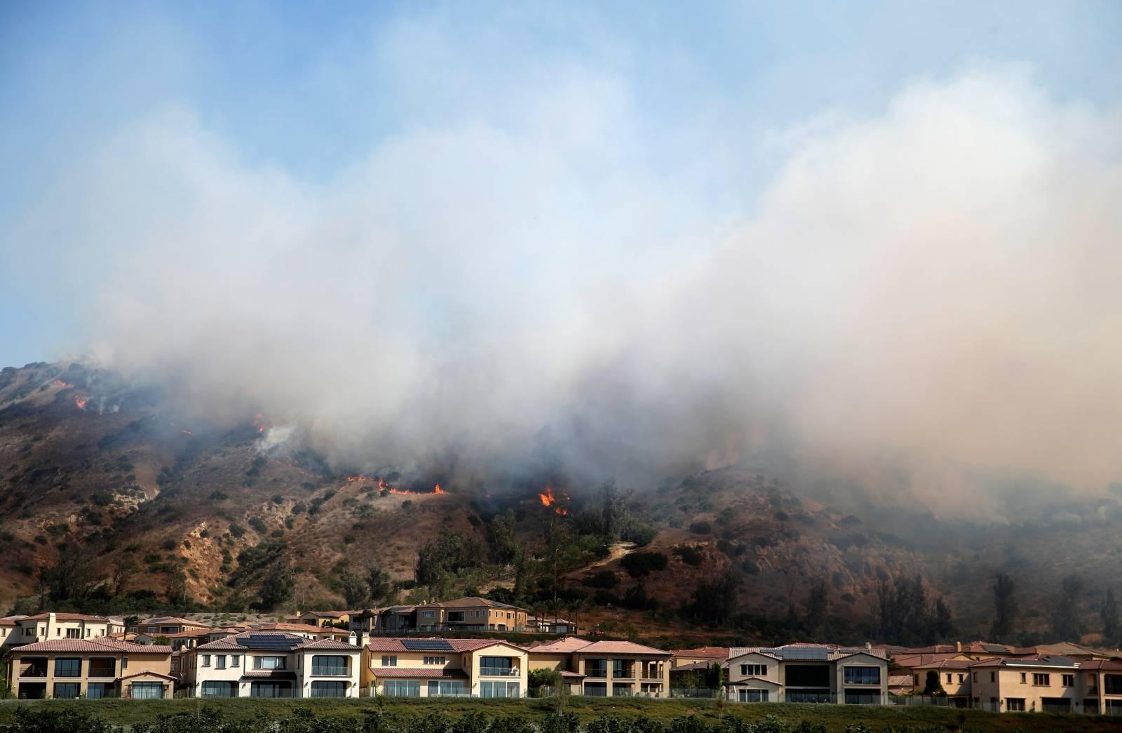 Silverado Fire in California