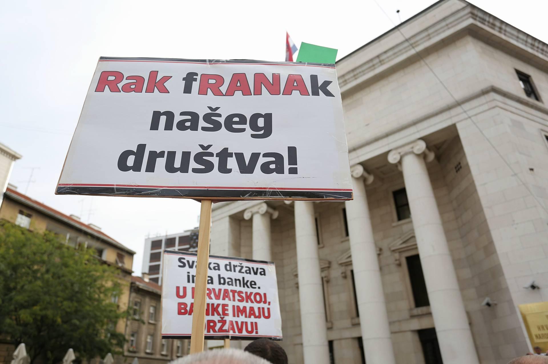 Prosvjed udruge Franak