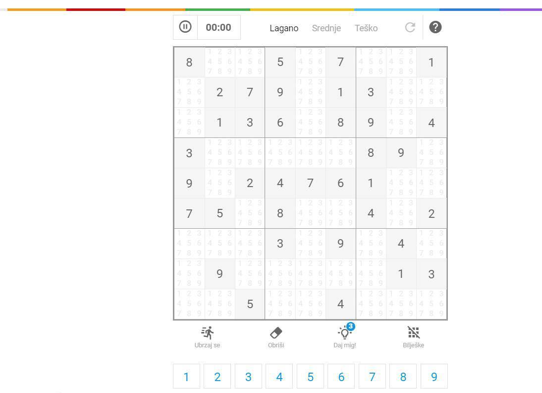 Novo: Zaigraj megapopularni sudoku online na 24sata.hr