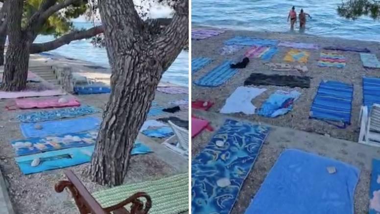VIDEO Pogledajte ručnik-plažu u Tučepima u 8 ujutro: 'Sve puno, a imam bebu. Nevjerojatno...'
