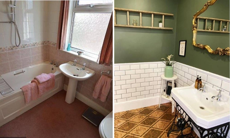 Ova kupaonica će vas oduševiti: Šivaću mašinu iskoristila za umivaonik, a novčiće za pod