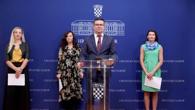 Zagreb: U Saboru održana konfrencija za medije Kluba zastupnika SDP-a