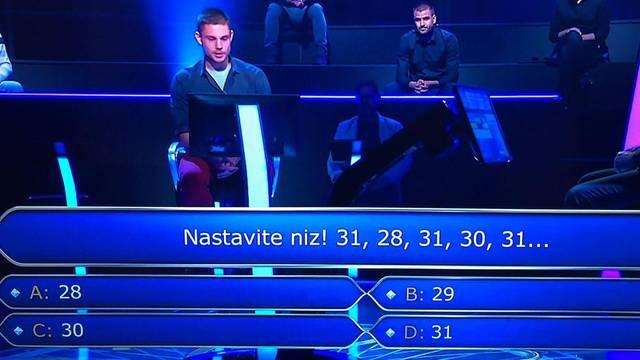 Natjecatelj zapeo već na trećem pitanju: Znate li točan odgovor?