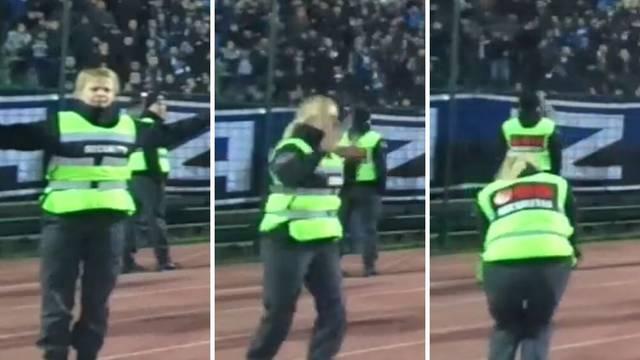 Što je nogomet: Zaštitarka je slavila Željin gol usred Koševa