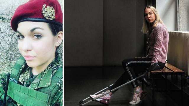 Hrabroj vojnikinji čudom spasili nogu: Sad već šetam i vježbam