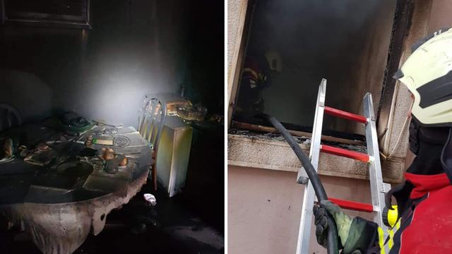 Vatra progutala stan u Bujama, vatrogasci spasili ženu i psa...