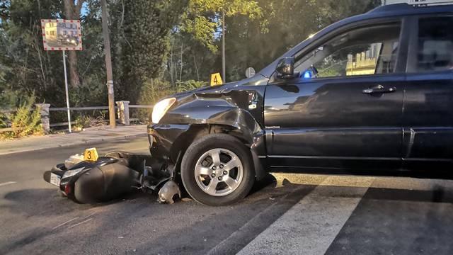 Automobil oduzeo prednost motociklistu: Mladić (27) je zadobio lakše ozlijede