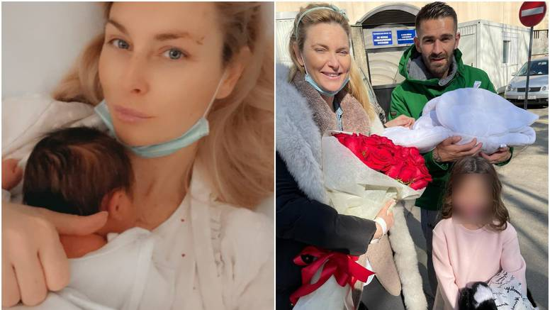 Iris Rajčić nakon poroda ne skriva osmijeh: 14 godina mlađi partner dočekao je s buketom