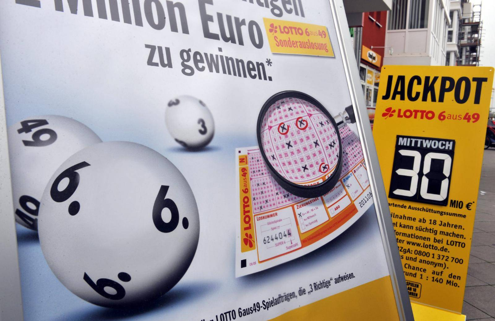 German lotto jackpot rises to 30 million euro