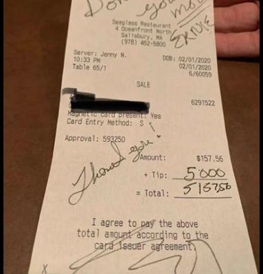 Kakav dan na poslu: Milijarder konobarici ostavio 40.000 kn