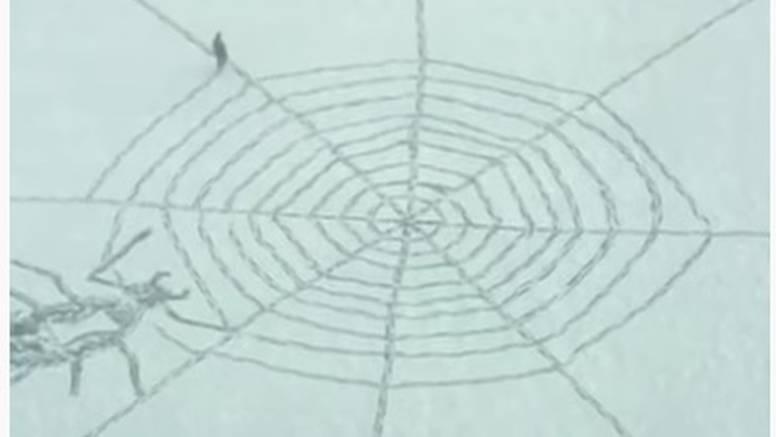 Cleveland: Pao prvi snijeg, na njemu iscrtao paukovu mrežu