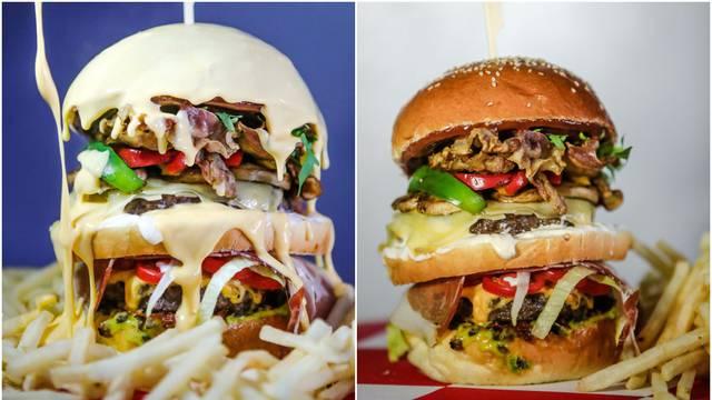 Navijački burger za hrabre: Sve duplo i s puno topljenog sira