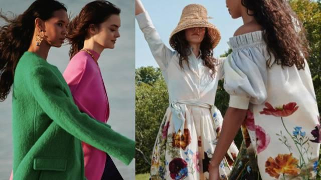 Oscar de la Renta: Velike nježne haljine i jakne snažnih tonova