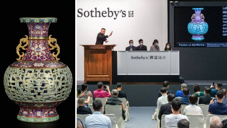 Kupljena za 56 dolara, kineska vaza sad prodana za 9 milijuna