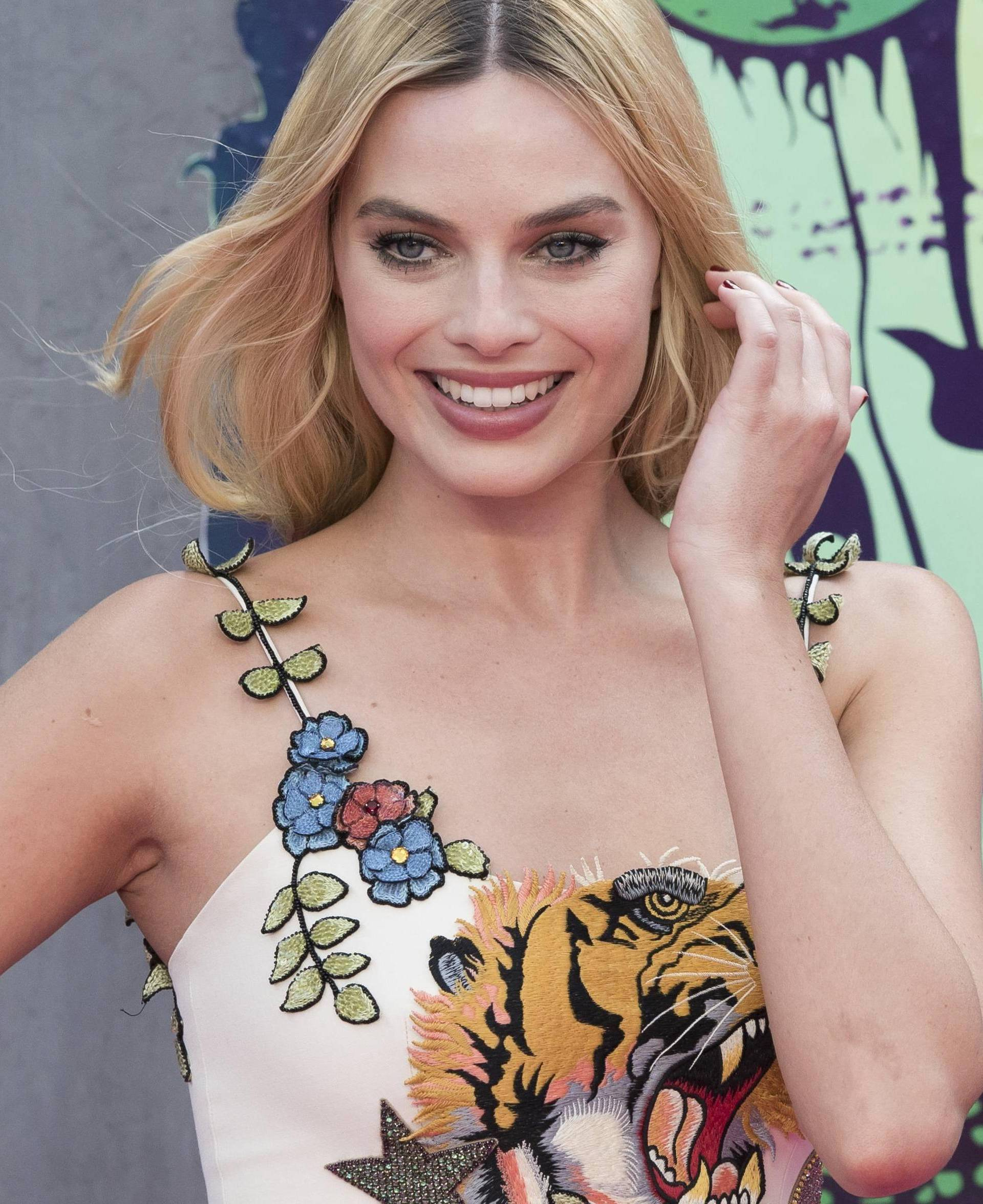 Margot Robbie attends Suicide Squad film premiere at Leicester Square in London. 03/08/2016