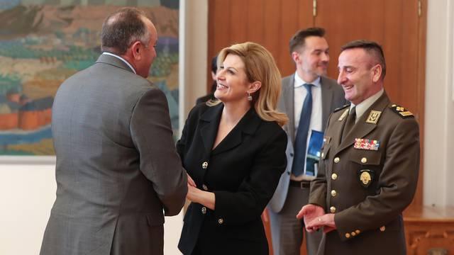 Zagreb: Predsjednica primila  izaslanstvo generala Oružanih snaga SAD-a, Capstone
