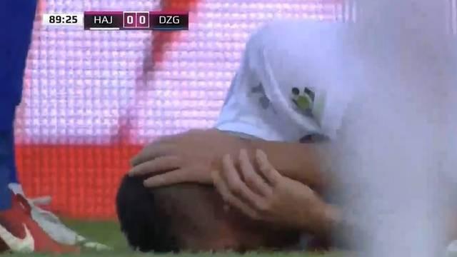 Kamenom u glavu! Hajdukovi navijači pogodili su svog igrača