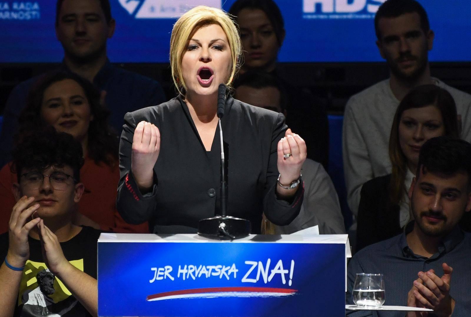 Zagreb: Govor predsjedničke kandidatkinje Kolinde Grabar-Kitarović na zadnjem skupu