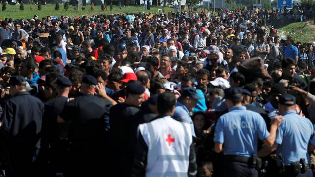 The Wider Image: Migrant routes a year on