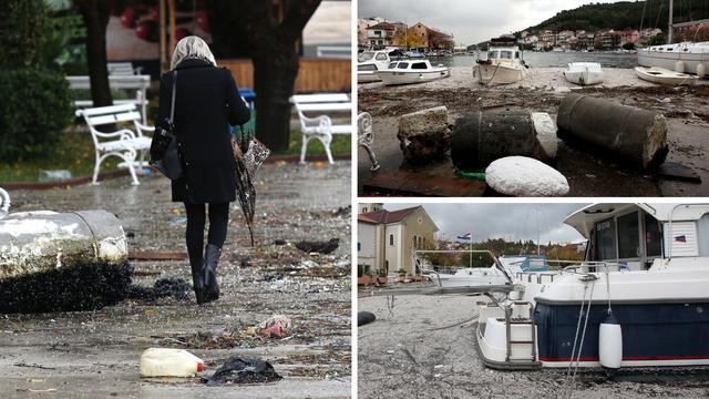 U Zatonu nam je more vratilo smeće koje smo bacili u njega