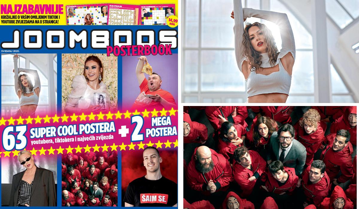 JoomBoos posterbook ima sve: Sara Jo, La Casa de Papel...
