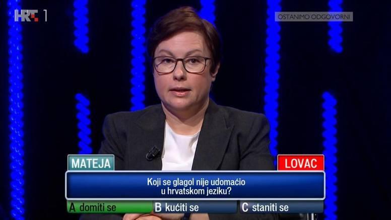 Natjecateljica je pitanje nazvala najlakšim, no Morana je kiksala