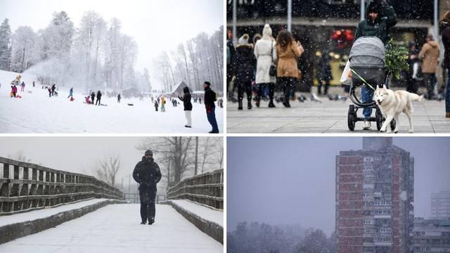 Šleperi zbog snijega koji pada diljem zemlje ne mogu u Rijeku