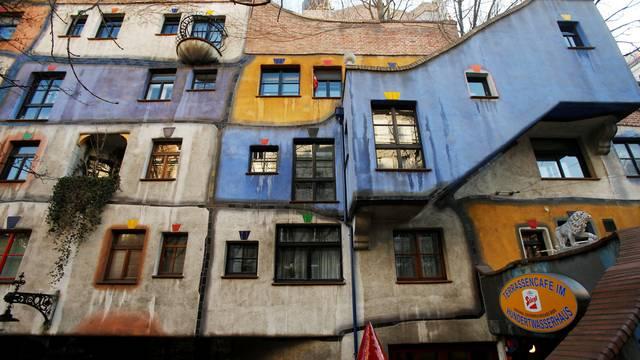 The Hundertwasser House landmark is seen in Vienna