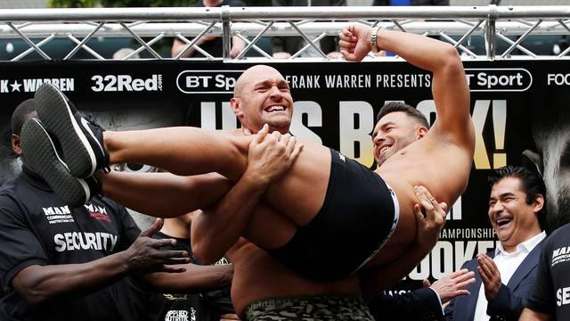 Tyson Fury & Sefer Seferi Weigh-In